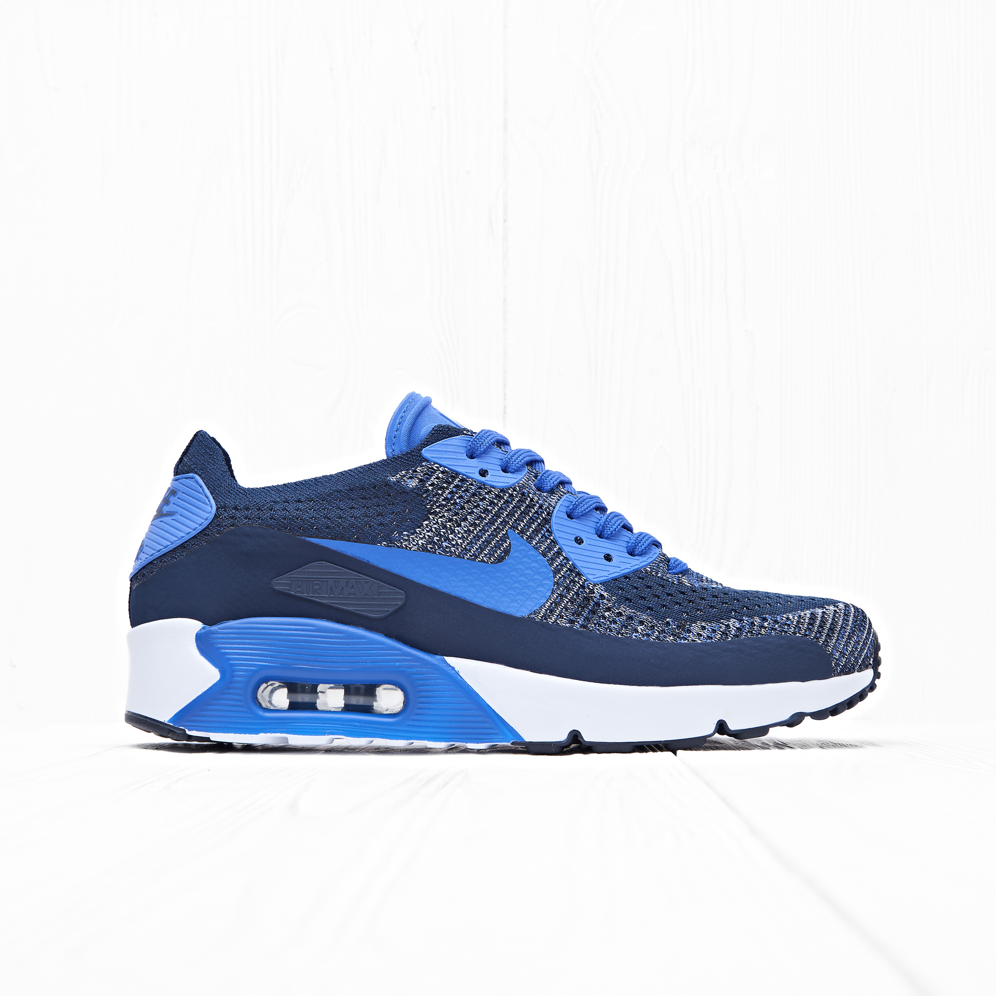Кроссовки Nike AIR MAX 90 ULTRA 2.0 FLYKNIT College Navy/Paramount Blue-White