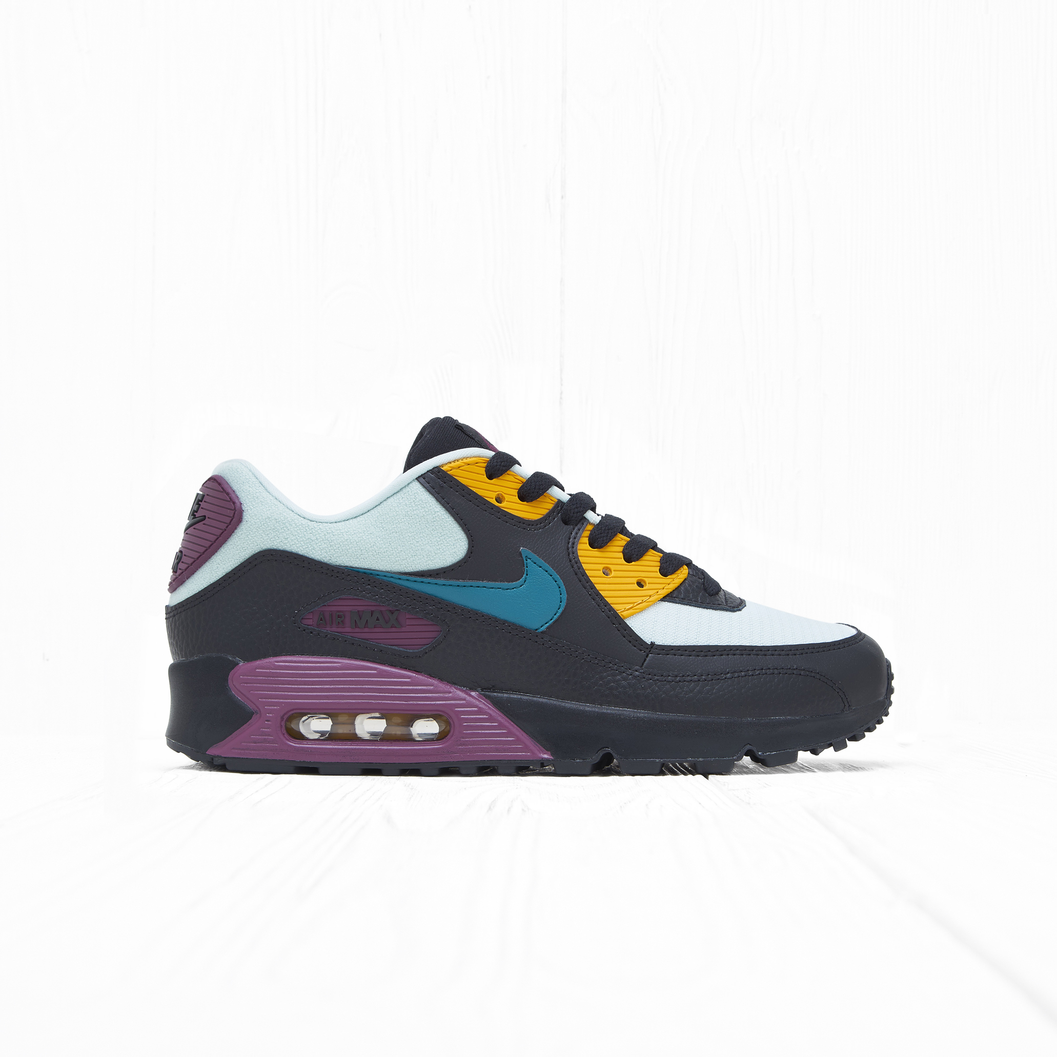 Кроссовки Nike W AIR MAX 90 Black/Geode Teal-Light Silver-Bordeaux