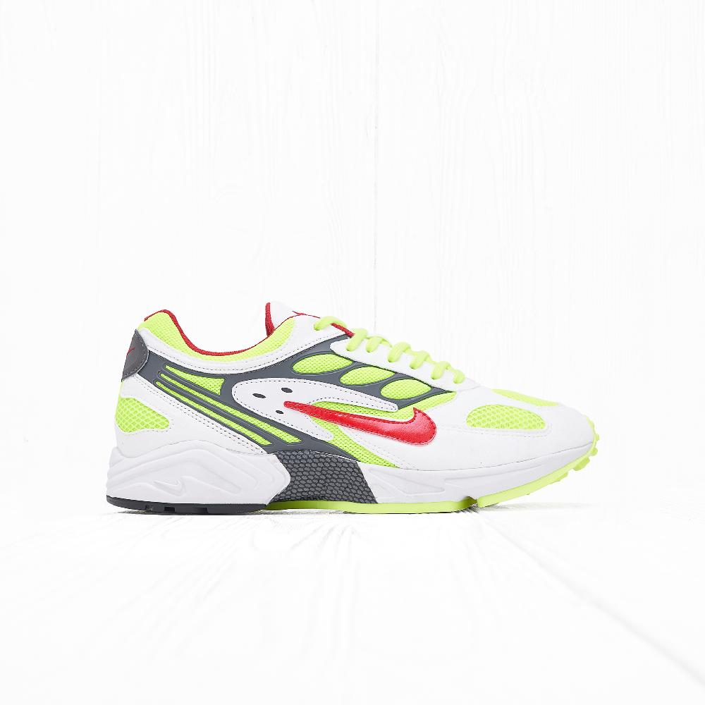 Кроссовки Nike AIR GHOST RACER White/atom Red-Neon Yellow-Dark Grey