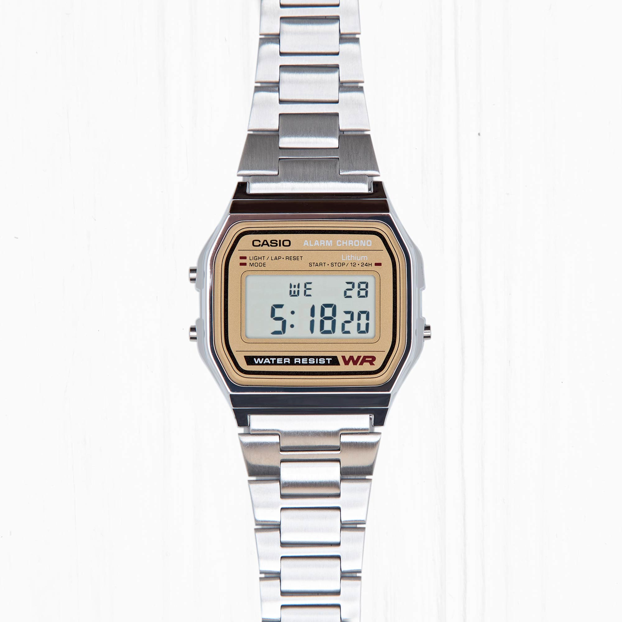Часы Casio RETRO (A-158WEA-9E) Silver-Gold