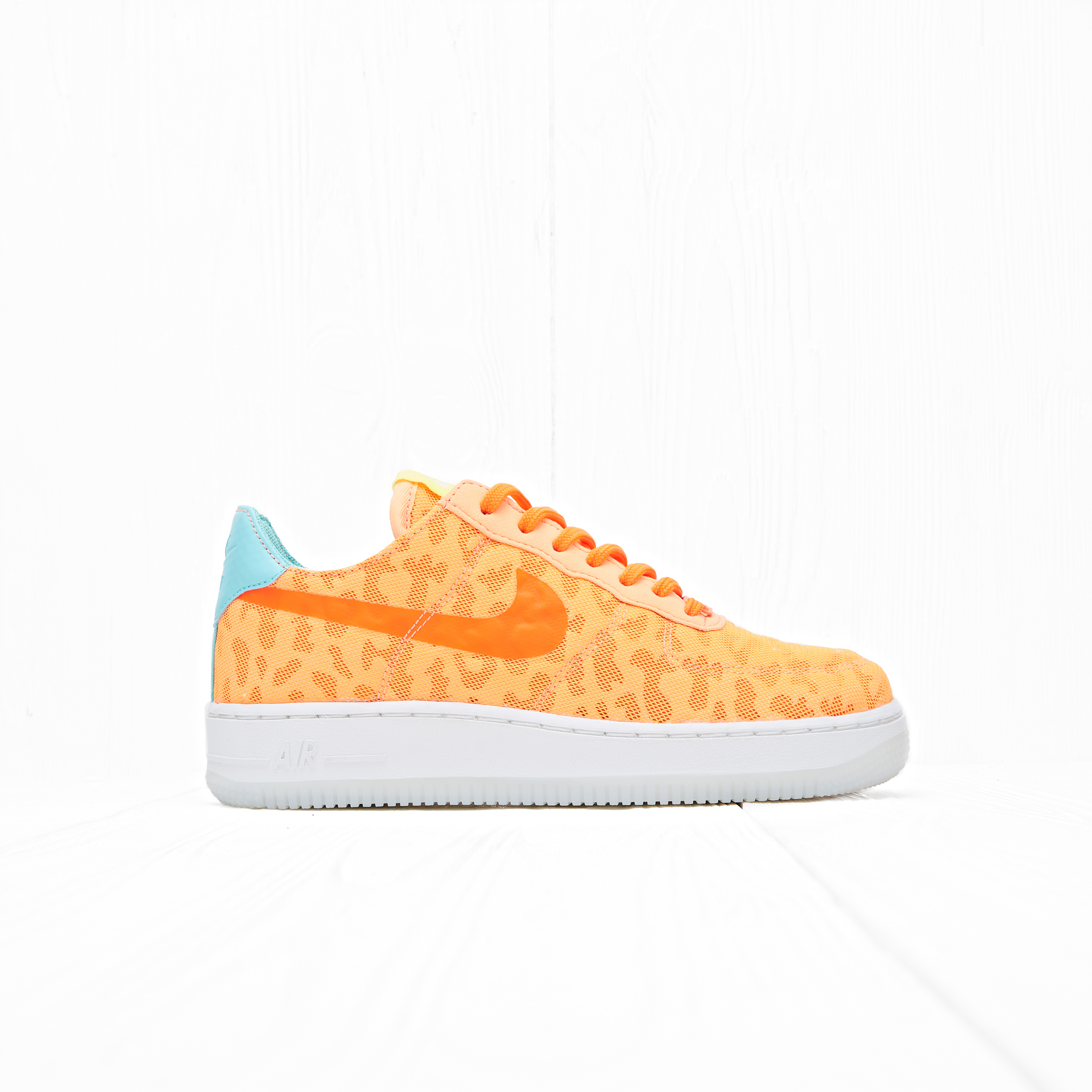 Кроссовки Nike W AIR FORCE 1 07 TXT PRM Peach Cream/Hyper Turquoise/Volt/Total Orange