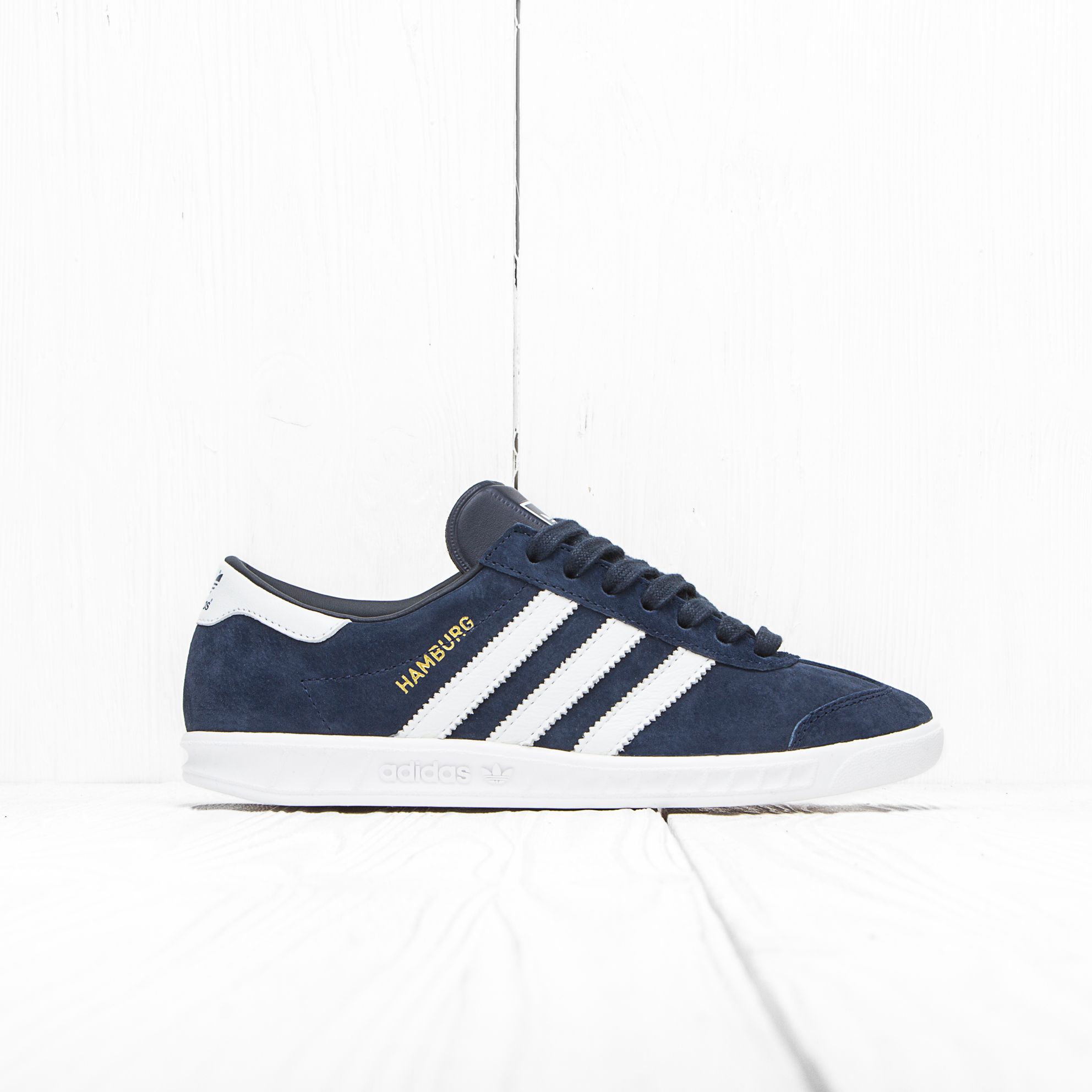 Кроссовки Adidas HAMBURG Collegiate Navy/Ftwr White/Gold Met