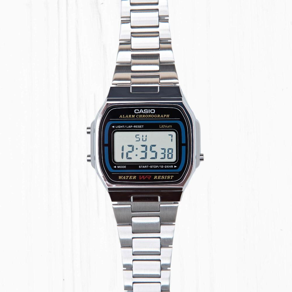 Часы Casio RETRO (A-164WA-1) Silver-Black