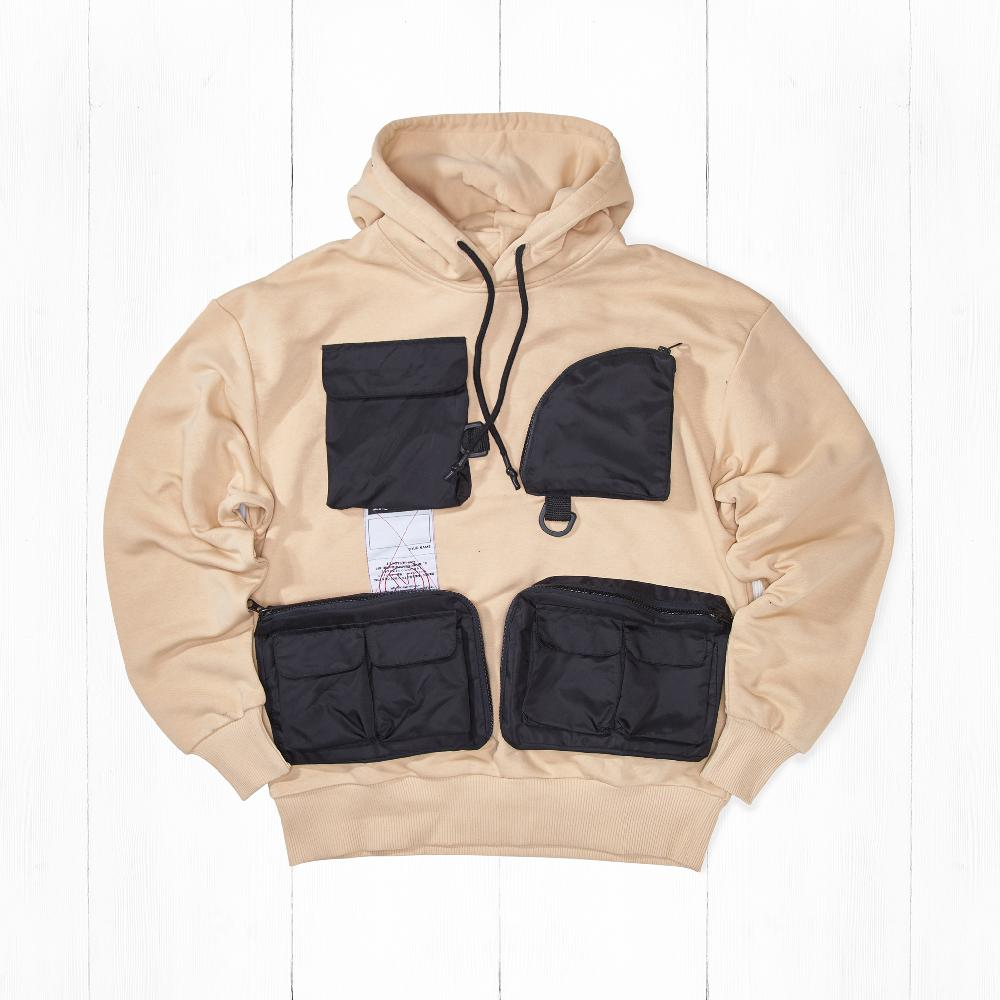 Толстовка Ziq & Yoni TECH 4 POCKETS AW18 Sand