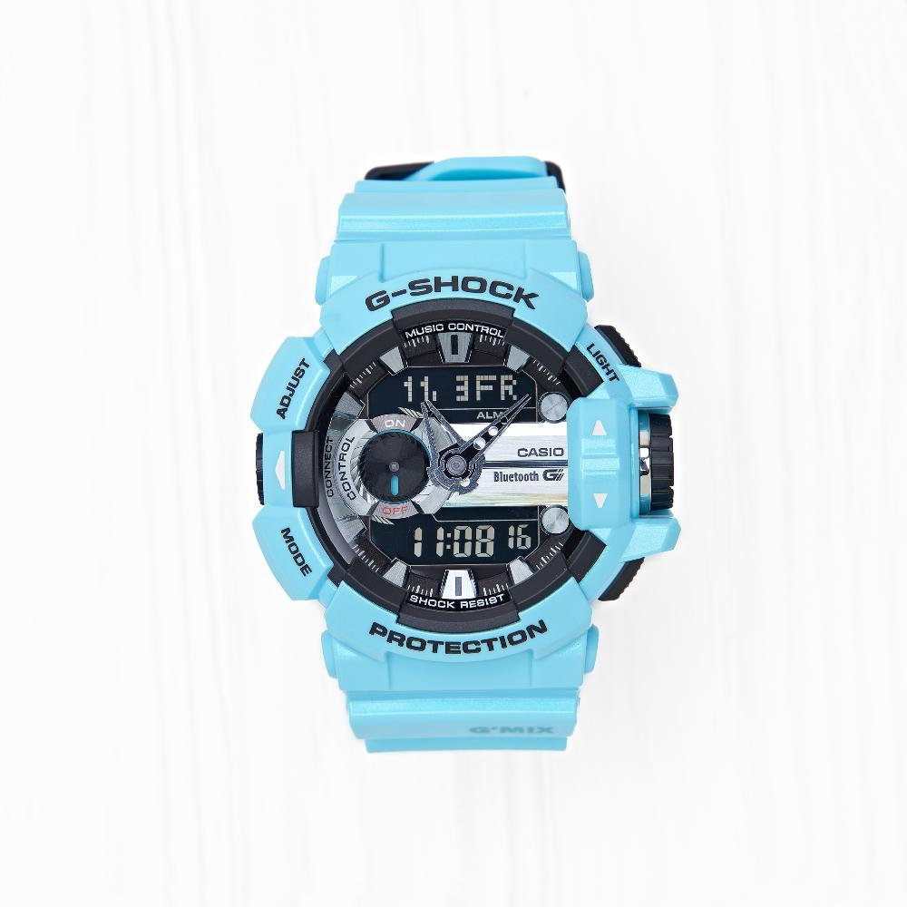 Часы Casio G-SHOCK BLUETOOTH (GBA-400-2C) Aqua Blue
