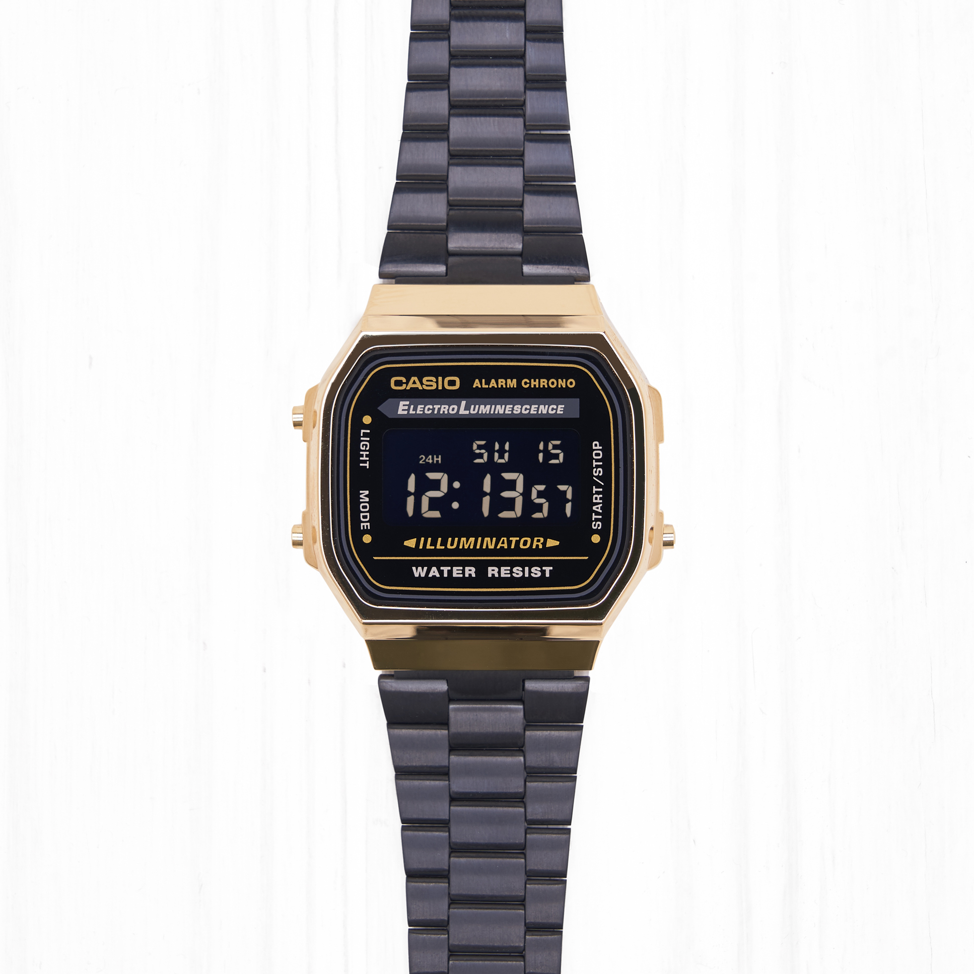 Часы Casio RETRO (A-168WEGB-1B) Black-Gold
