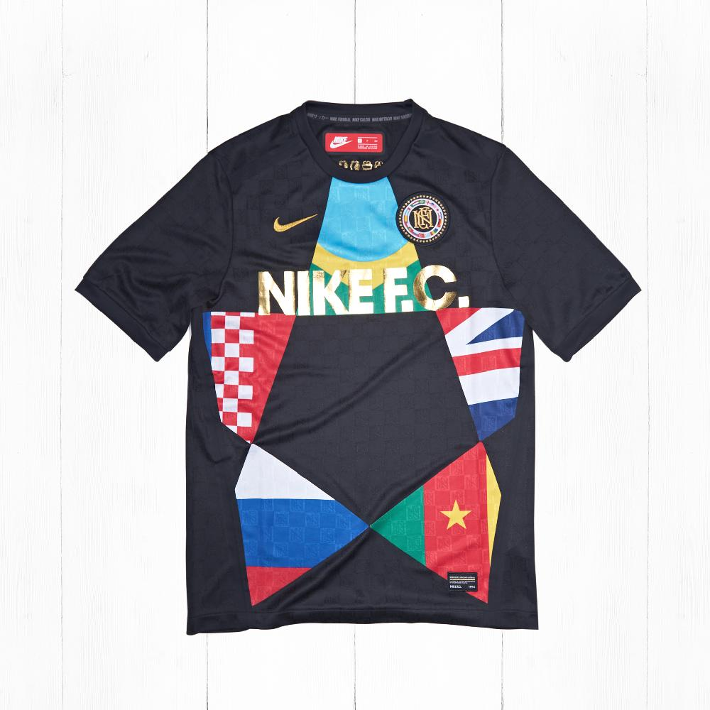 Футболка Nike FC TOP JSY Black/University Red-Multicolor