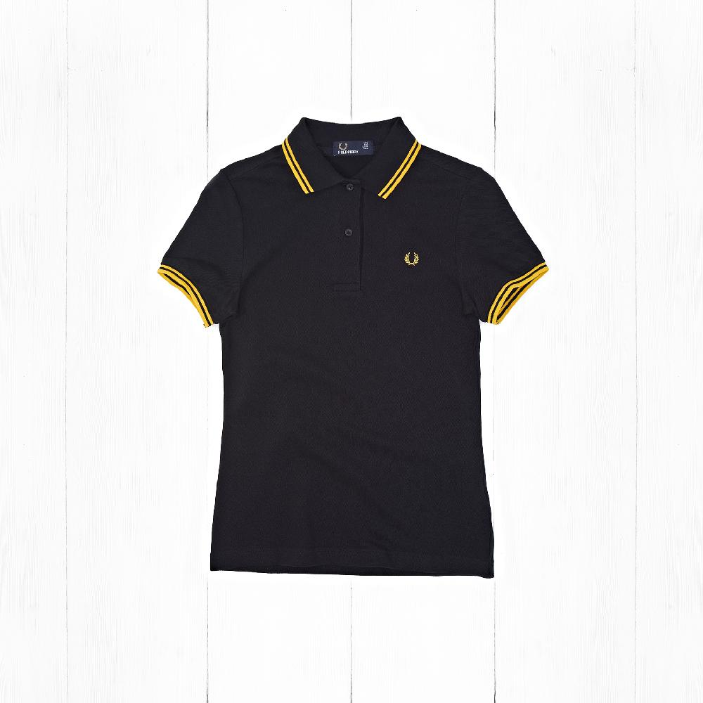Поло Fred Perry TWIN TIPPED Black/Yellow