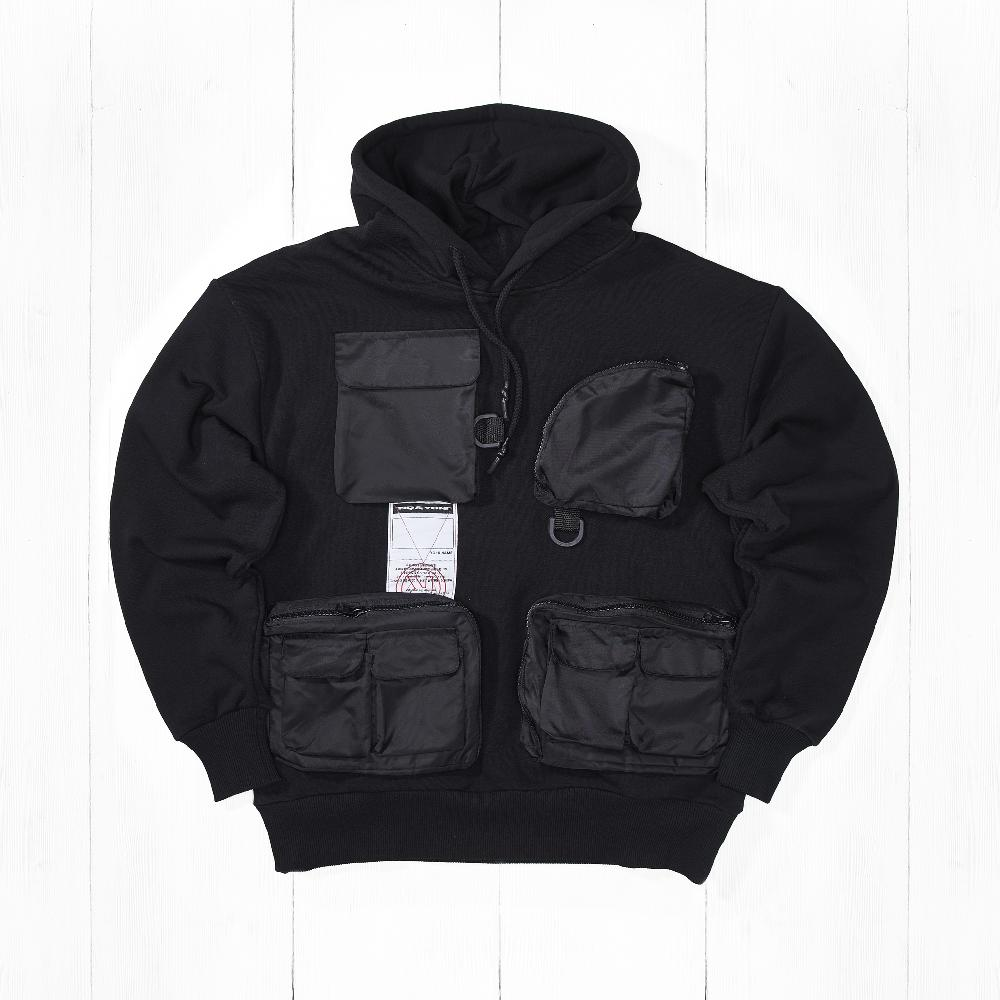 Толстовка Ziq & Yoni TECH 4 POCKETS AW18 Black