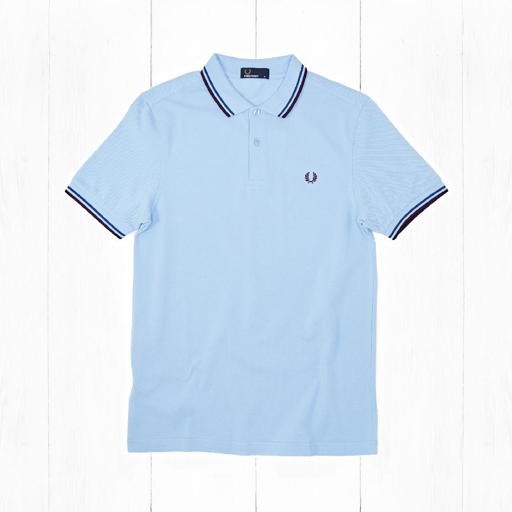 Поло Fred Perry TWIN TIPPED Glacier/Cobalt/Bramble