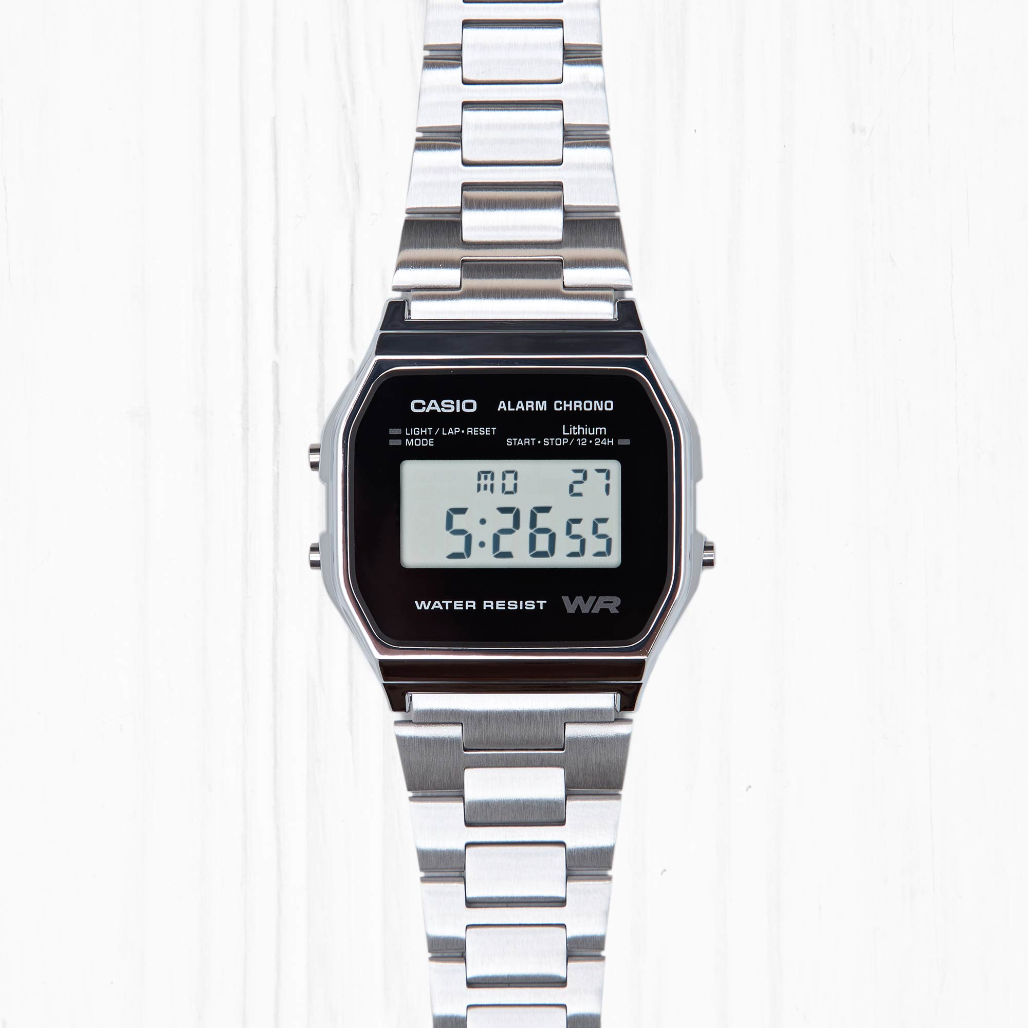 Часы Casio RETRO (A-158WEA-1E) Silver-Black