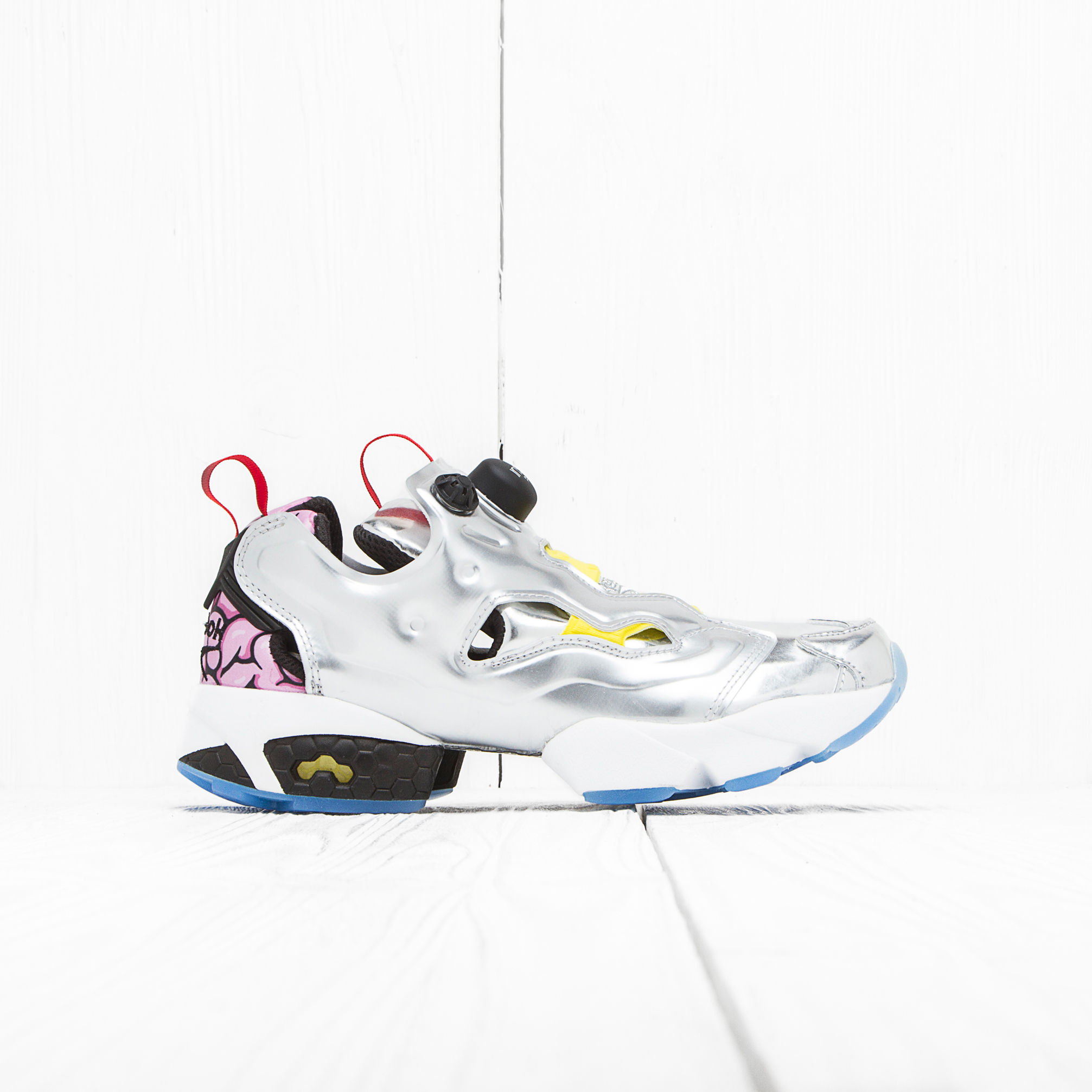 Кроссовки Reebok INSTA PUMP FURY OG Silver Met/Black/Yellow