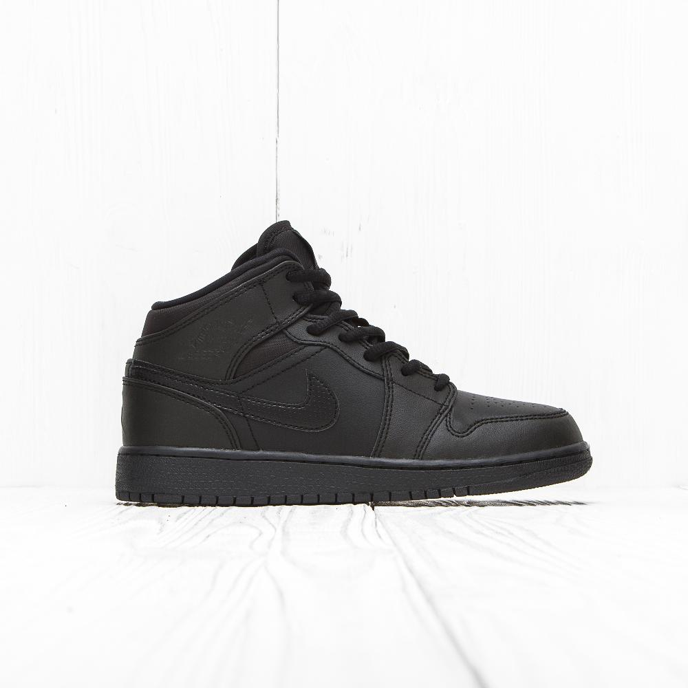 Кроссовки Jordan AIR JORDAN 1 MID (BG) Triple Black