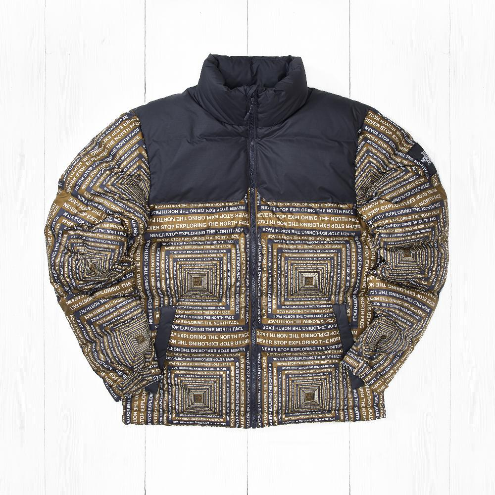Куртка The North Face 1992 NUPTSE Fir Green Lcd Capsule Print