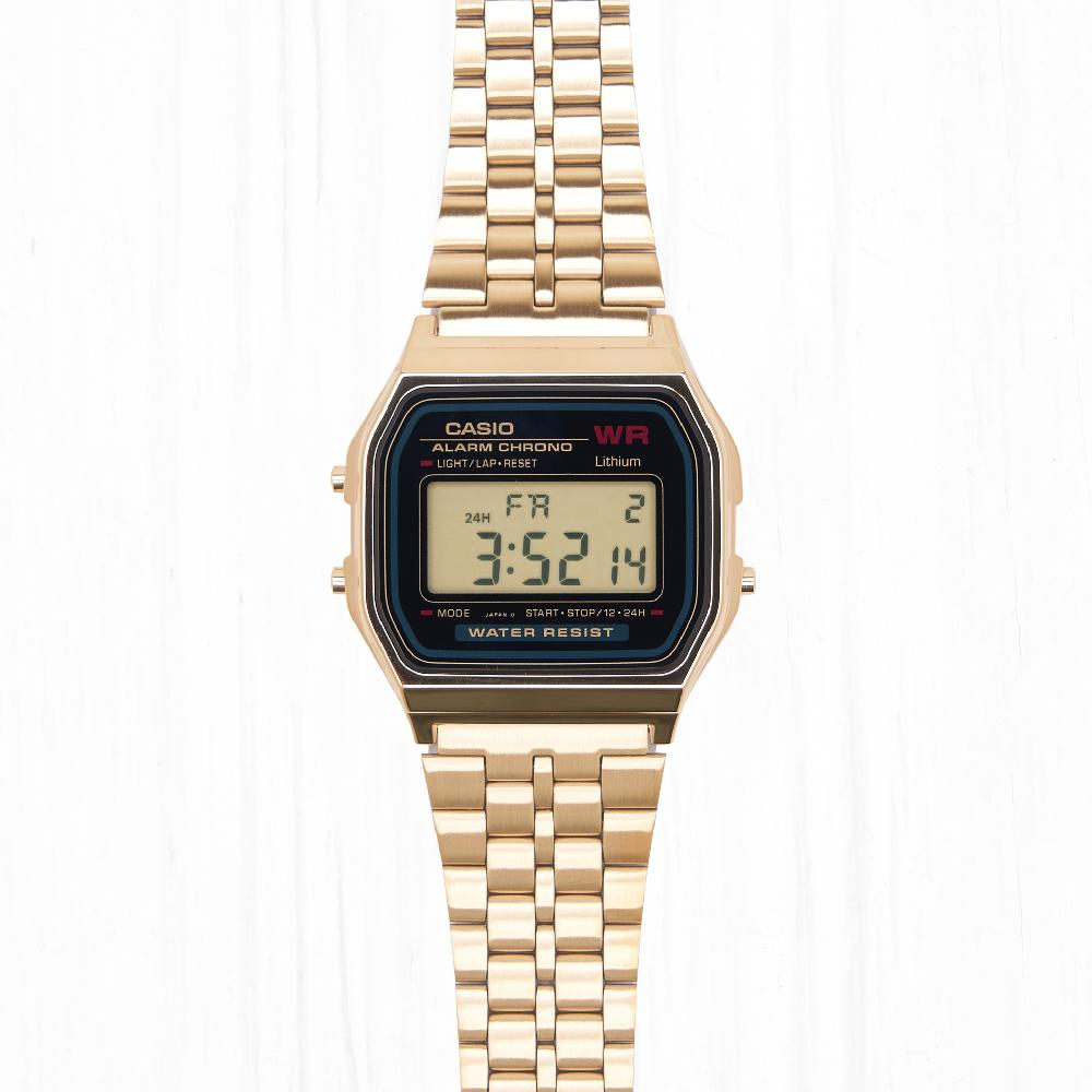 Часы Casio RETRO (A-159WGEA-1E) Gold-Black