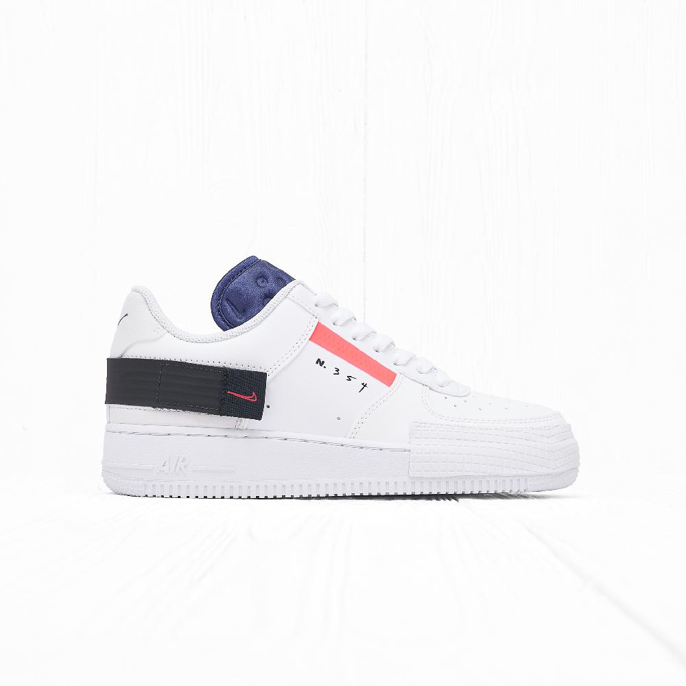 Кроссовки Nike AF1-TYPE Summit White/Red Orbit-White-Black