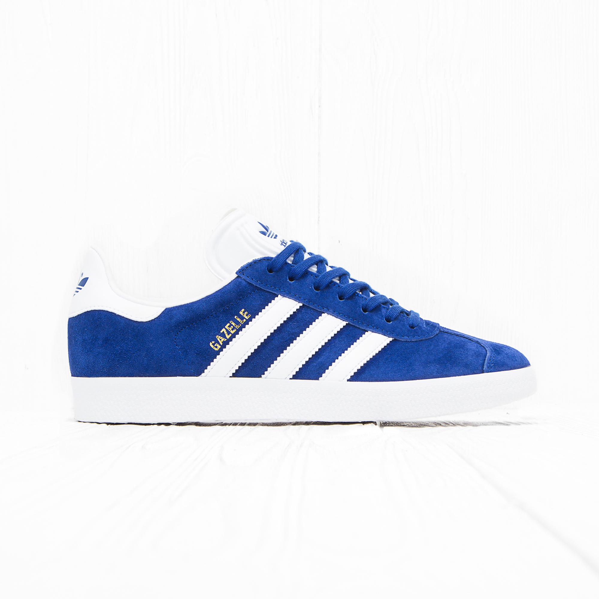Кроссовки Adidas GAZELLE Collegiate Royal/Off White/Gold Met