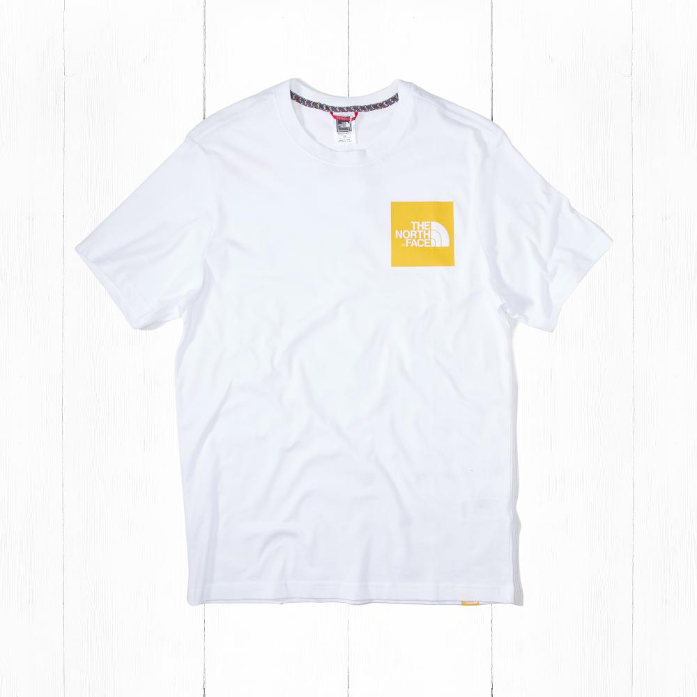 Футболка The North Face S/S FINE White/Yellow