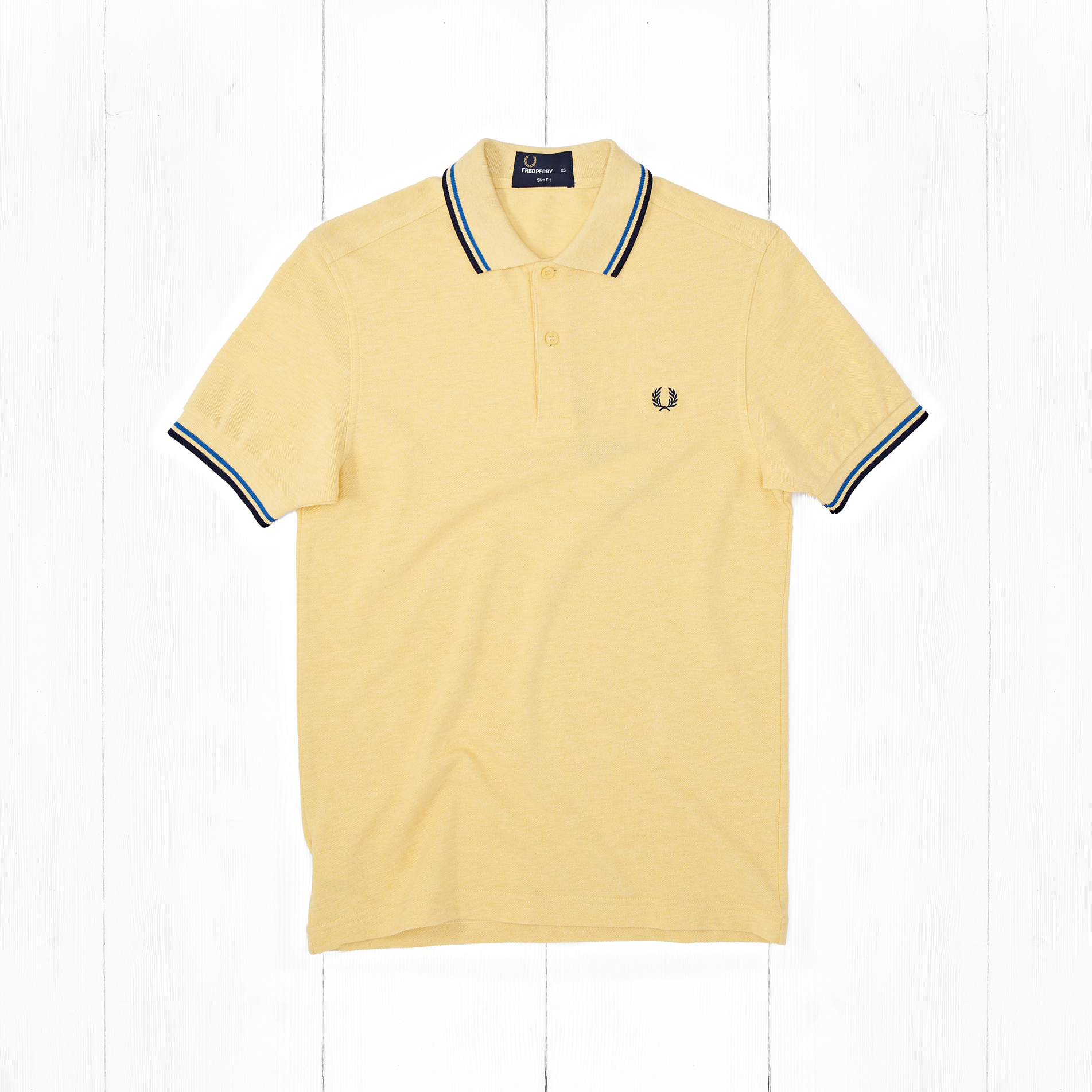 Поло Fred Perry SLIM FIT TWIN TIPPED Yellow
