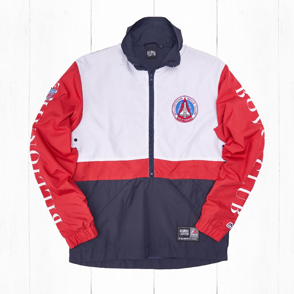 Анорак BBC x Majestic TEAM WARM UP Navy/Red