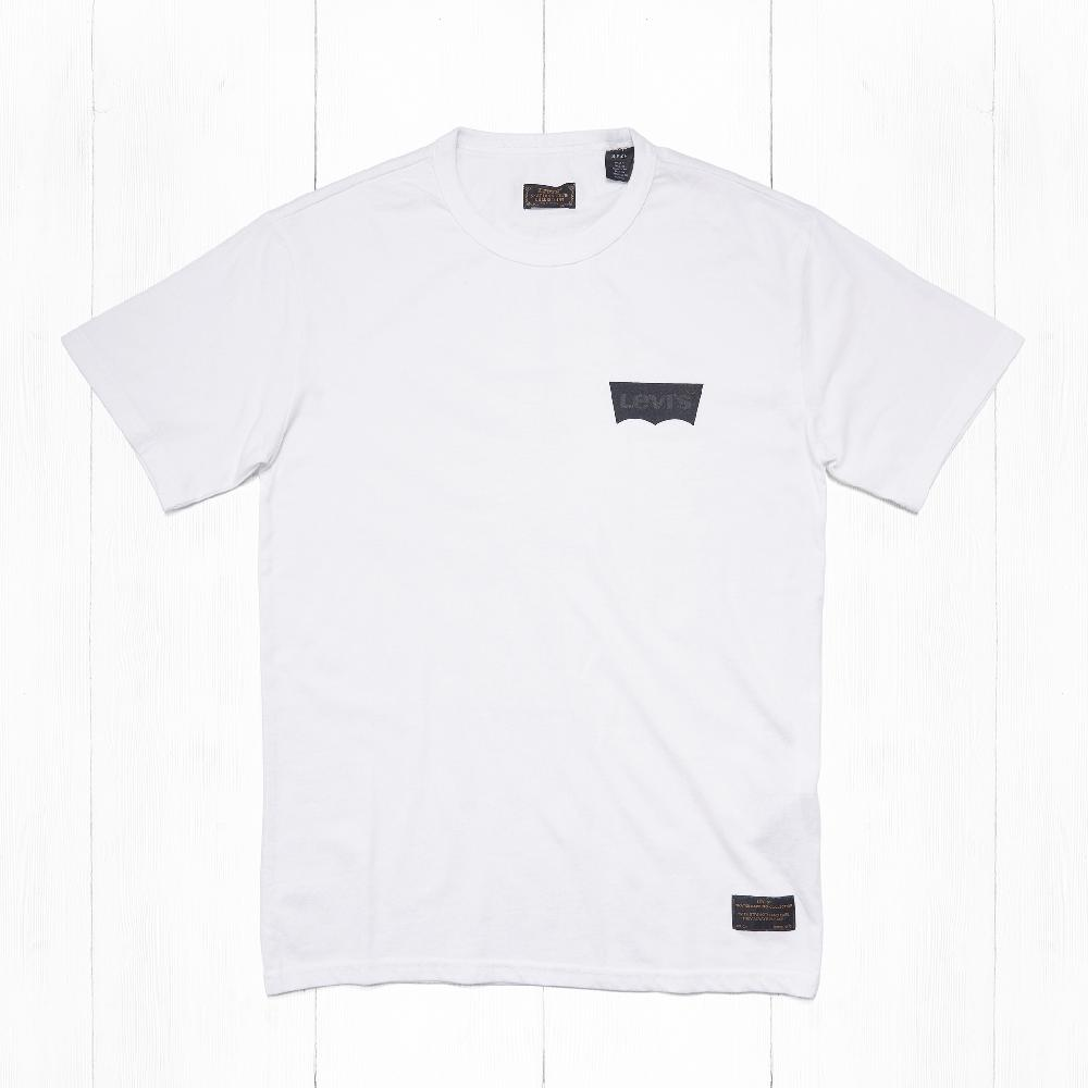Футболки Levi's SKATE GRAPHIC Lcs White Core