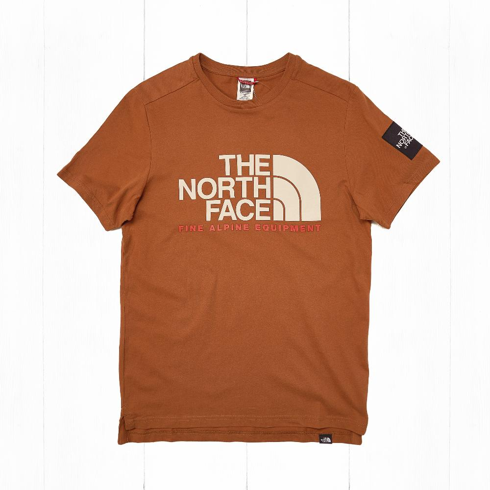 Футболка The North Face S/S FINE Alp Equ Caramel