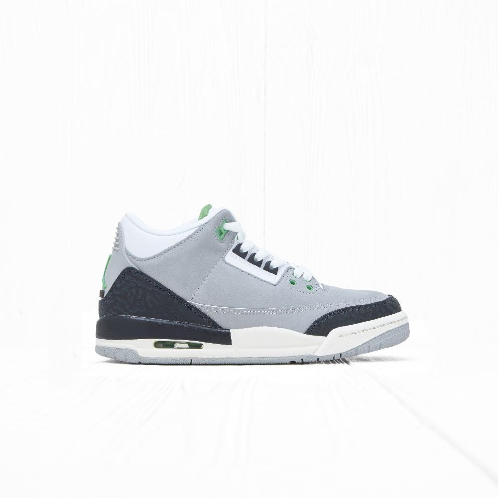Кроссовки Jordan AIR JORDAN 3 RETRO (GS) (CHLOROPHYLL) Light Smoke Grey/Chlorophyll-Black-White-Sail