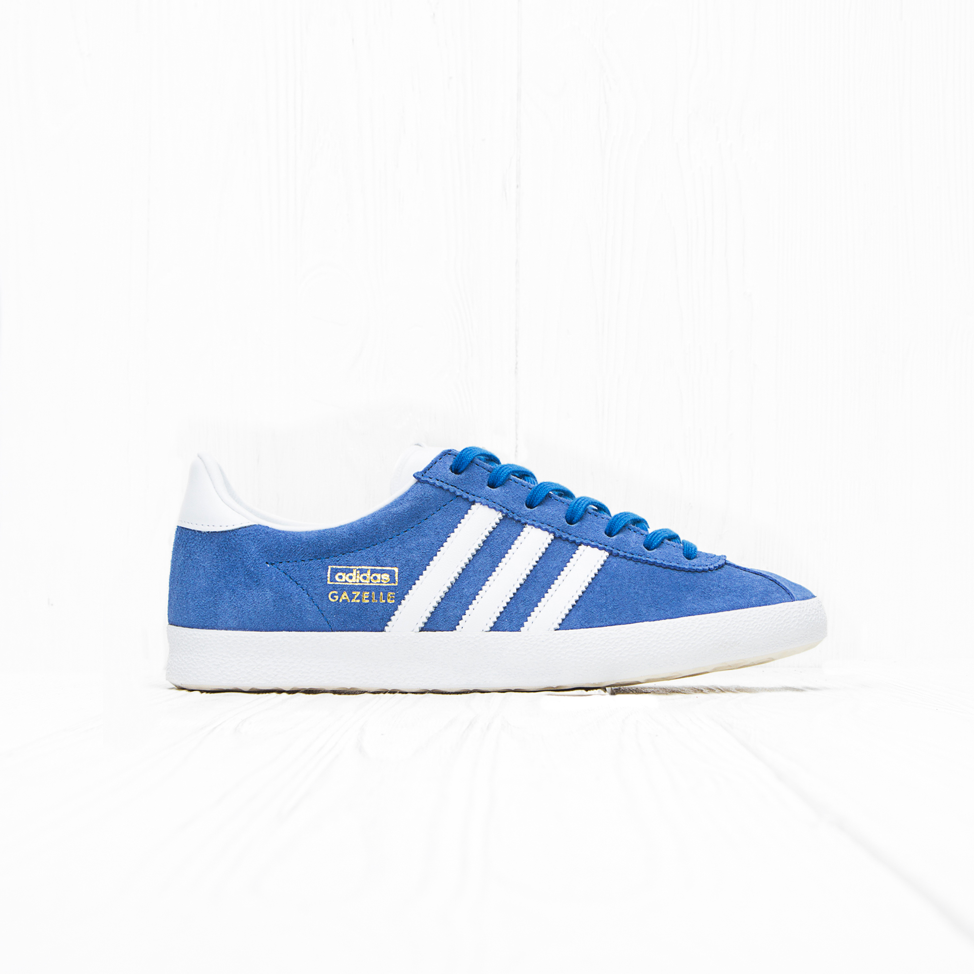 Кроссовки Adidas GAZELLE OG Air Force Blue/White/Metallic Gold