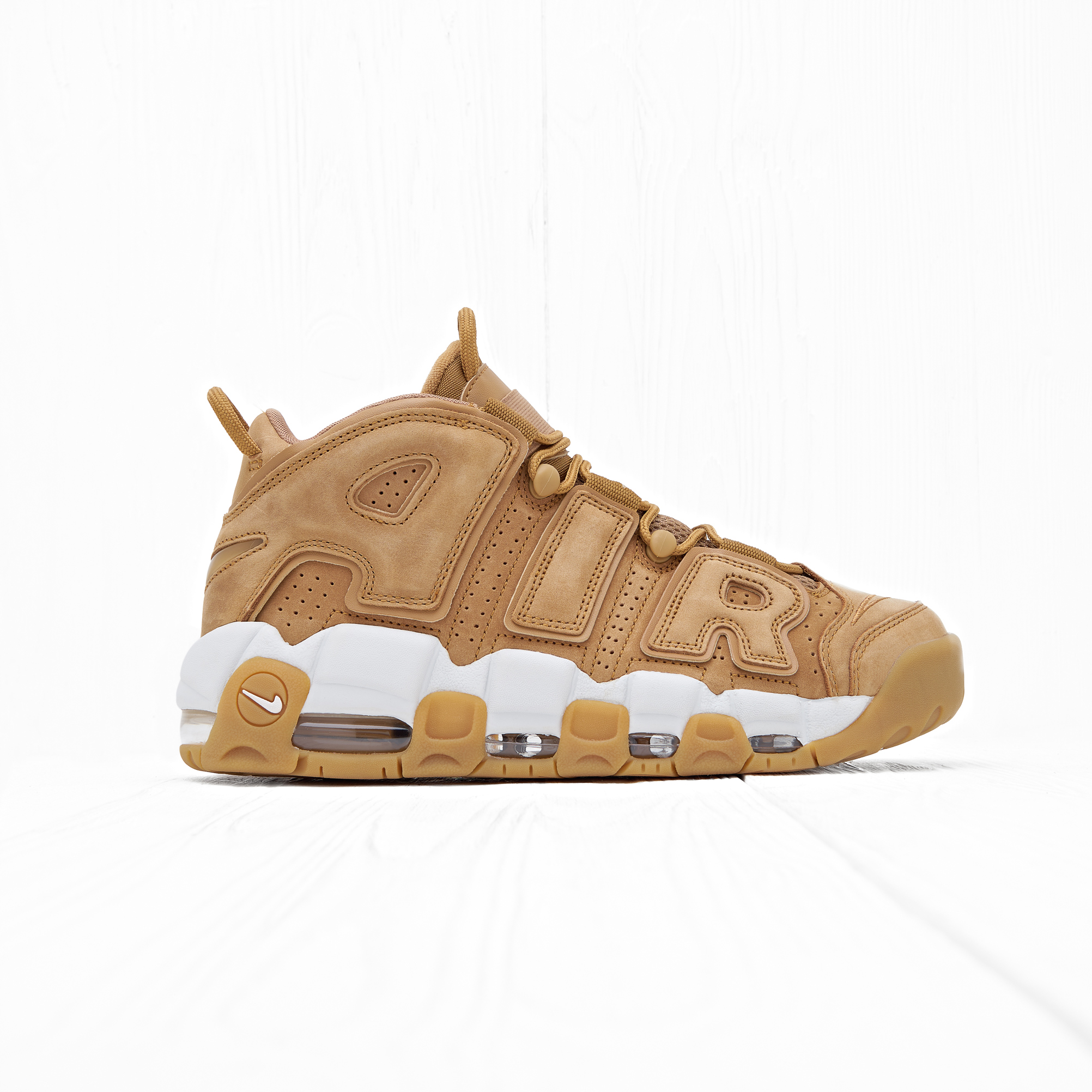 Кроссовки Nike AIR MORE UPTEMPO 96 PRM (FLAX) Flax/Flax-Gum Light Brown