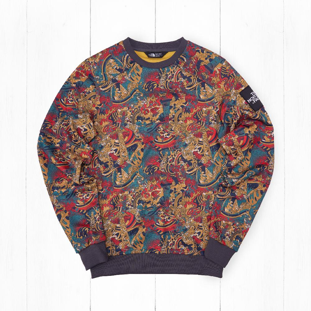 Свитшот The North Face FINE Leopard Yellow Genesis Print