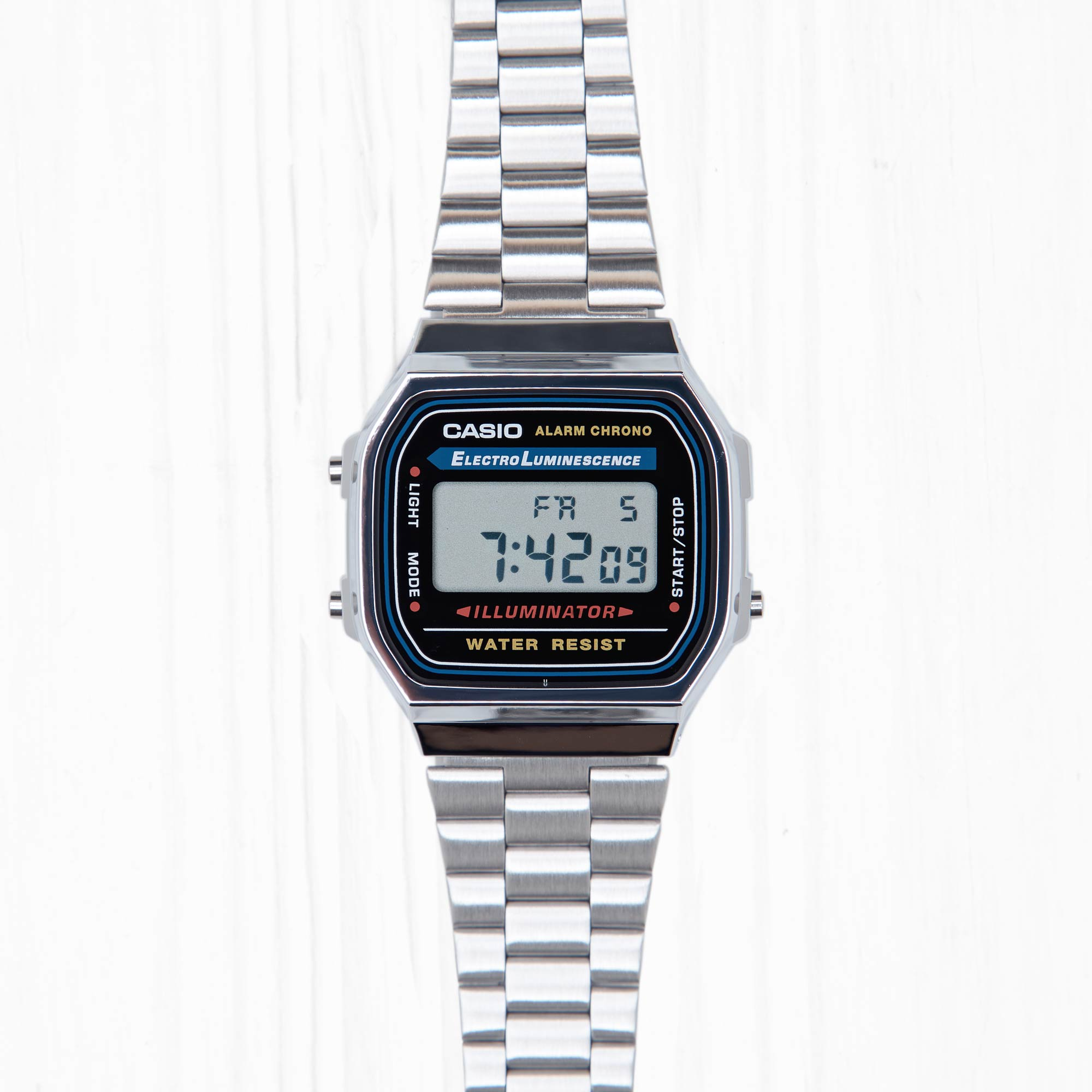 Часы Casio RETRO (A-168WA-1) Silver-Black