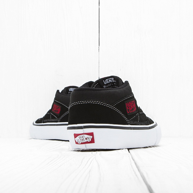 Кеды Vans HALF CAB PRO Black/White-Red - Фото 1