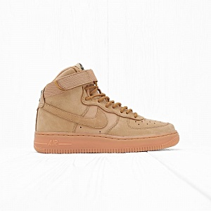 Кроссовки Nike AIR FORCE 1 HIGH WB (FLAX) (GS) Flax/Flax-Outdoor Green