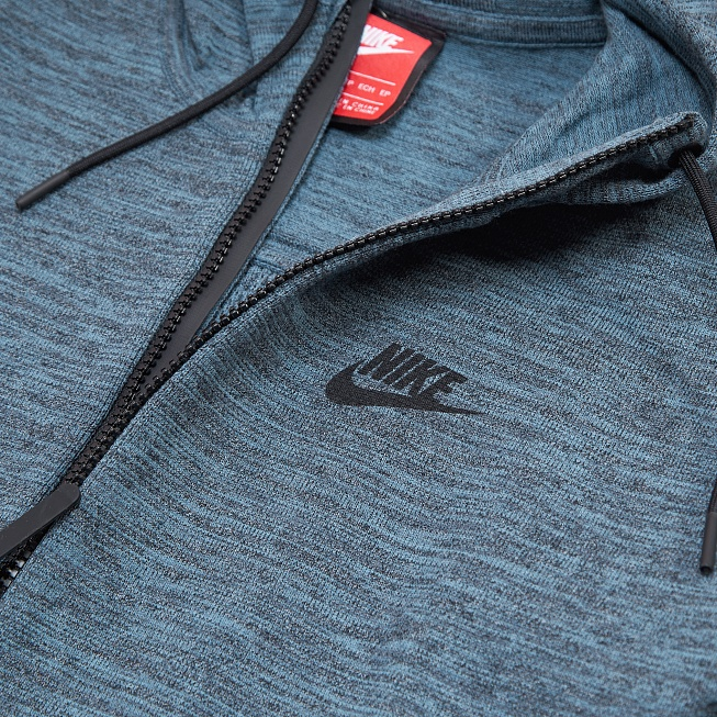 Толстовка Nike W TECH KNIT Dark Turquoise Heather/Black - Фото 3