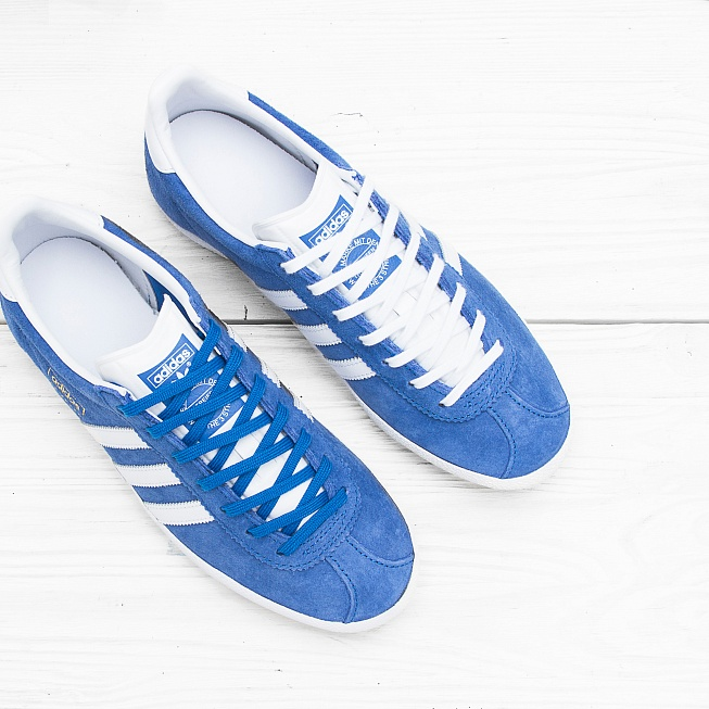 Кроссовки Adidas GAZELLE OG Air Force Blue/White/Metallic Gold - Фото 3