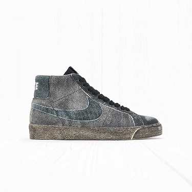 Кроссовки Nike SB ZOOM BLAZER MID PRM Black Light Dew/Coconut Milk
