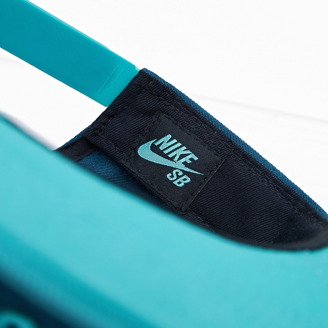 Бейсболка Nike SB ICON Teal/Light Retro/Black/Light Retro - Фото 4