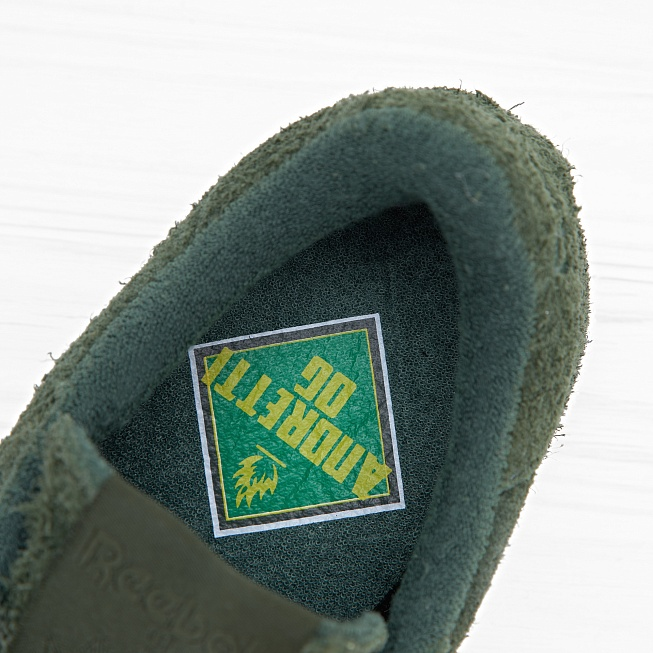 Кроссовки Reebok x Curren$y CLUB C 85 JL Primal Green/White Hemp - Фото 4