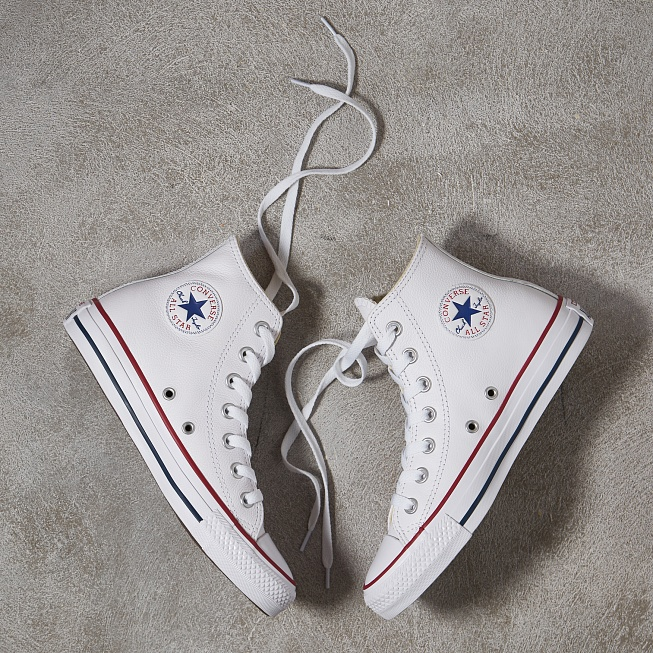Кеды Converse CHUCK TAYLOR ALL STAR HI LEATHER White - Фото 1
