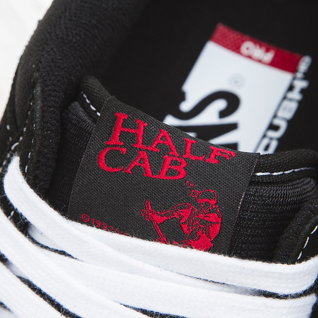 Кеды Vans HALF CAB PRO Black/White-Red - Фото 5