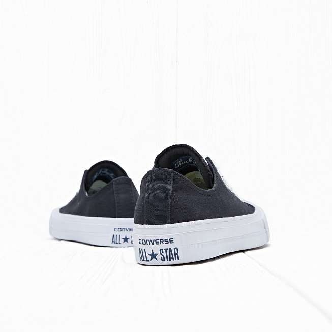 Кеды Converse CHUCK TAYLOR ALL STAR II LOW TOP Black/White/Navy - Фото 2