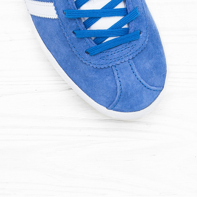 Кроссовки Adidas GAZELLE OG Air Force Blue/White/Metallic Gold - Фото 4