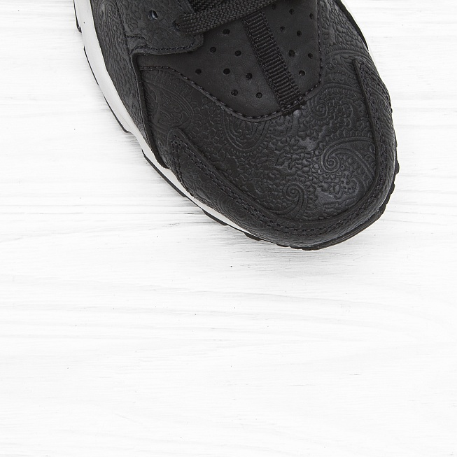 Кроссовки Nike W AIR HUARACHE RUN PRM Black/Black-White - Фото 4