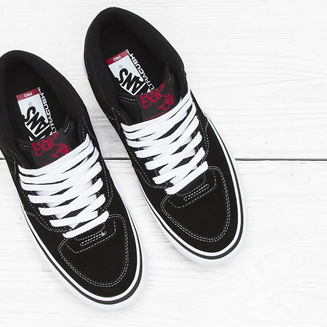 Кеды Vans HALF CAB PRO Black/White-Red - Фото 3