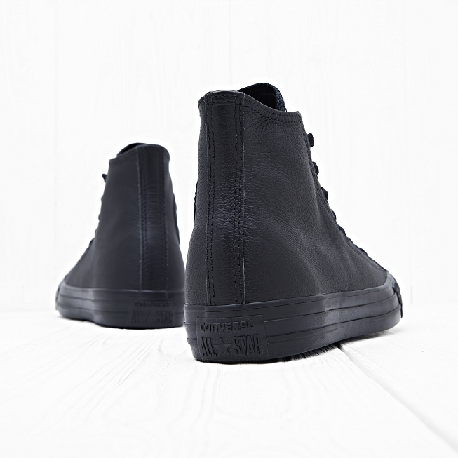 Кеды Converse CHUCK TAYLOR ALL STAR LEATHER HI Black Mono - Фото 3