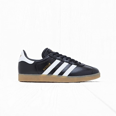 Кроссовки Adidas GAZELLE Core Black/White/Gold Metallic