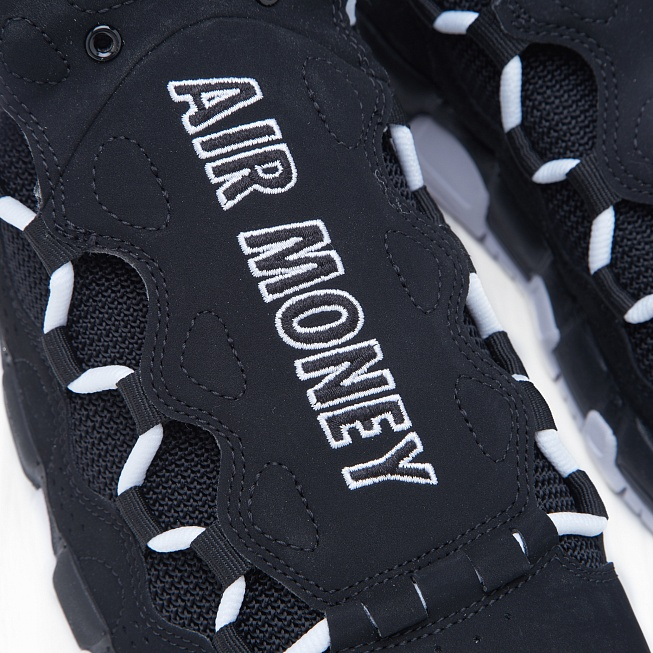 Кроссовки Nike AIR MORE MONEY Black/White-Black - Фото 4