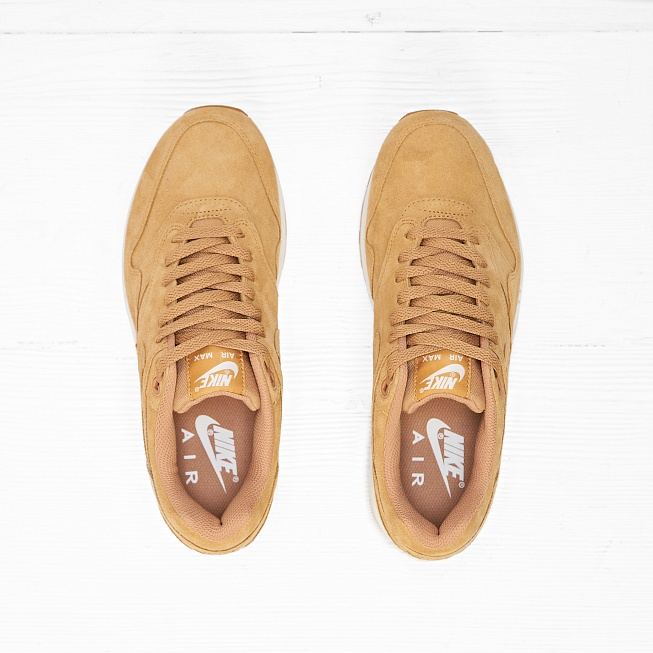 Кроссовки Nike AIR MAX 1 PRM (FLAX) Flax/Flax-Sail-Gum Medium Brown - Фото 2