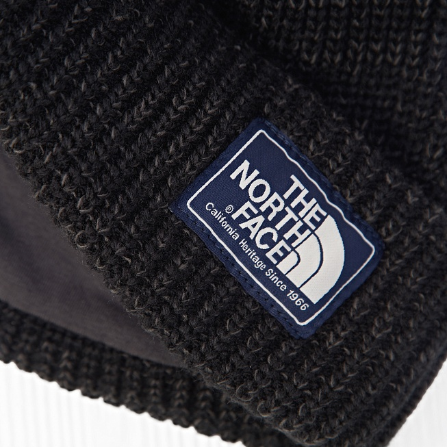 Шапка The North Face SALTY DOG Black - Фото 3