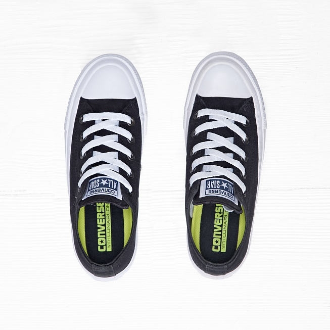 Кеды Converse CHUCK TAYLOR ALL STAR II LOW TOP Black/White/Navy - Фото 3